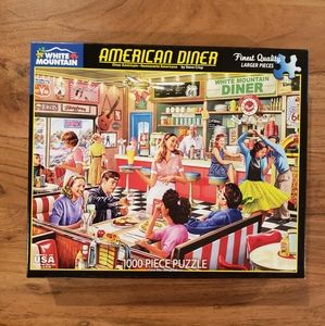 White Mountain American Diner 1,000 Piece Puzzle!